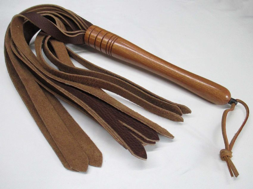 American Black Walnut Wood Handled, 3mm wide Falls Leather Flogger,Restraints, cuffs, straps, bondage straps, Master, Mistress, D/s, M/s, sub, collars, bondage, fetish, restraint, bdsm, impact, play, mature, adult, toys, bdsm, fetish, flogger, paddle, strap, tawse, Master, Mistress, Ds, Ms, naughty, bdsmcommunity, fetishcommunity, kinky, kinkster, CanadianPrisonStrap